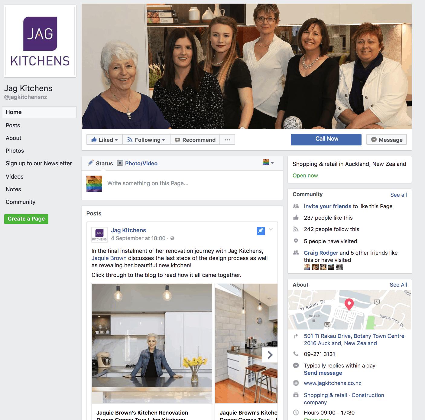 Jag Kitchens Facebook